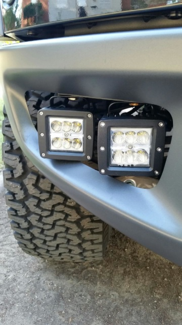 Ford Raptor Mounting Bumper Fog Light Brackets